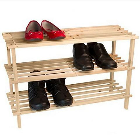 Wooden 3 Tier Large Shoe Storage Rack